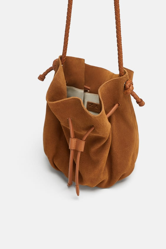 Image 4 Of Leather Bucket Bag From Zara