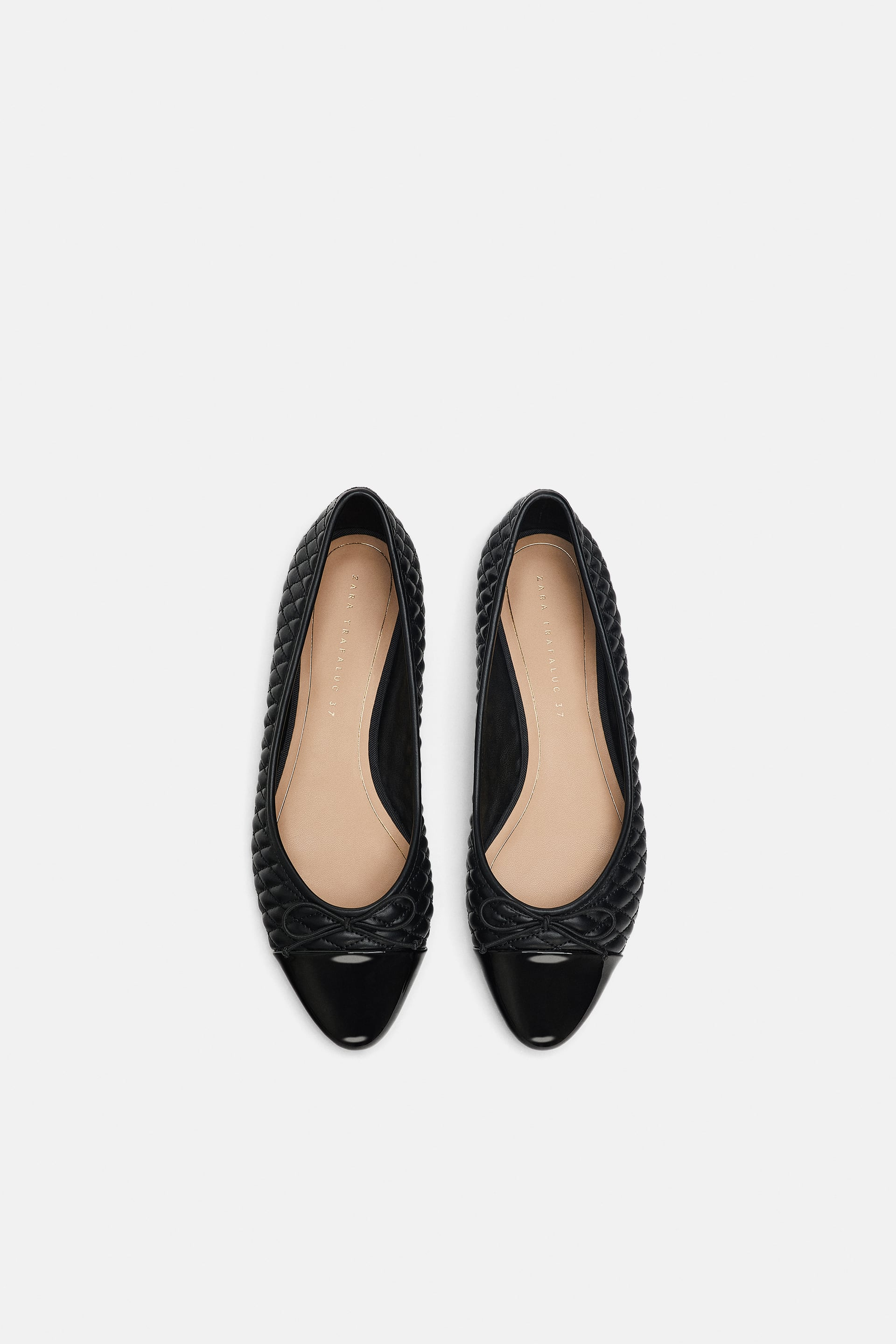 Image 1 of QUILTED FLAT from Zara