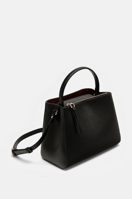 Image 5 Of Medium Tote Bag With Zipper From Zara