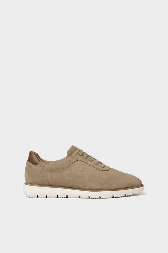Athletic Beige Leather Shoes