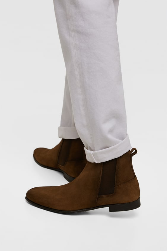 b00d983903a74 BROWN LEATHER ANKLE BOOTS - SHOES | ZARA United States