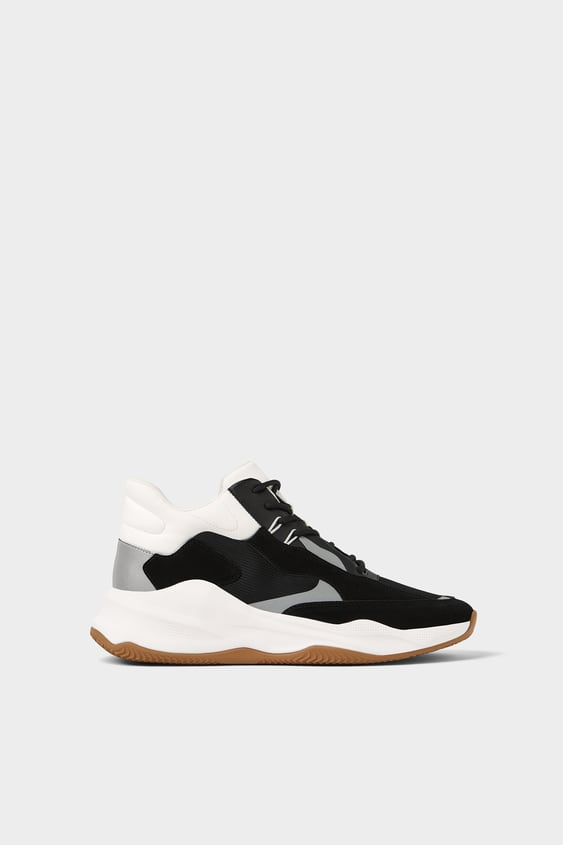 High Top Basketball Sneakers Sneakers Shoes Man by Zara