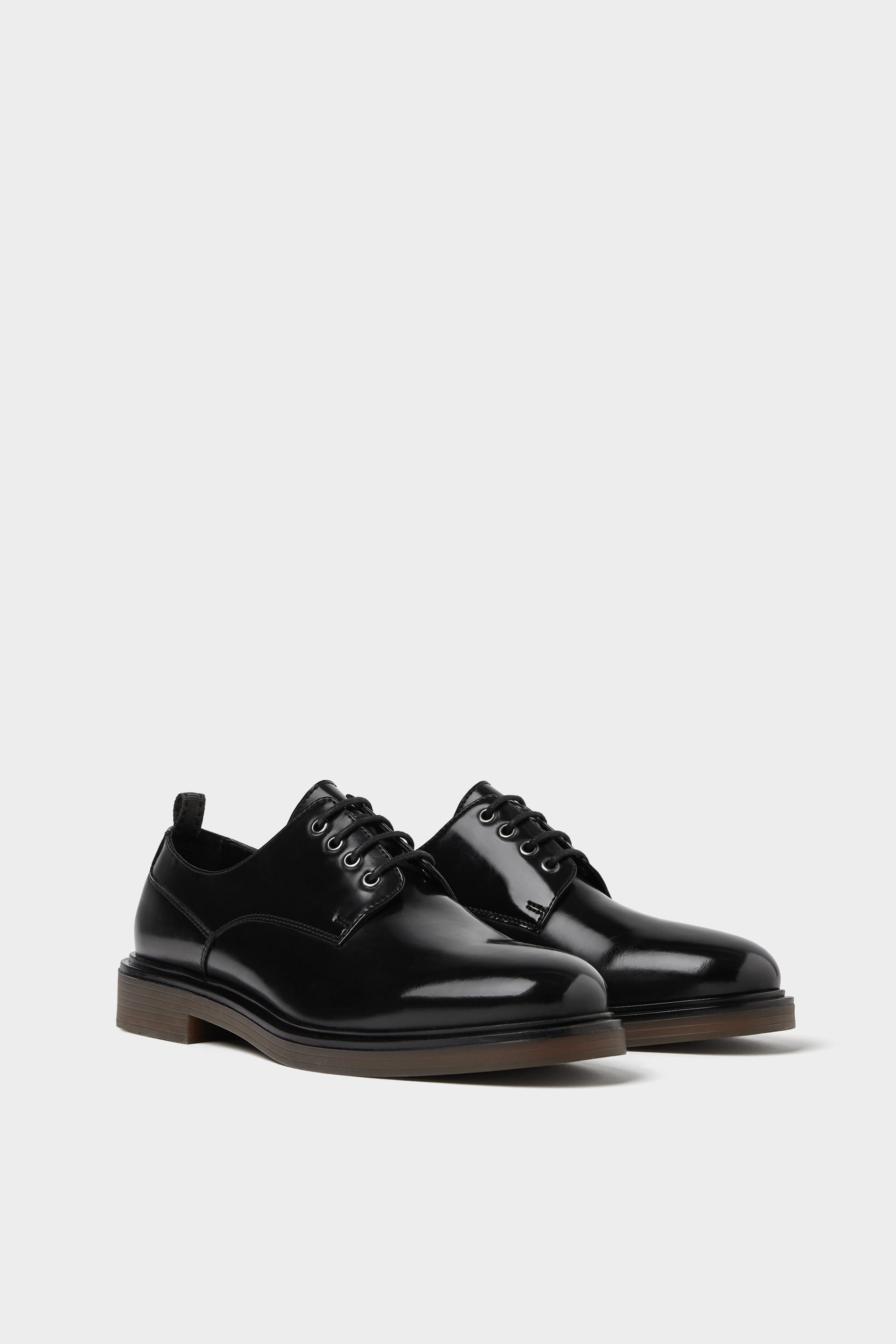 Black Shoes With A Glossy Finish  Casual Shoes Shoes Man Sale by Zara