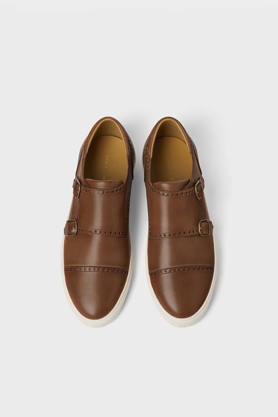 Double Monk Strap Sneakers View All Shoes Man by Zara
