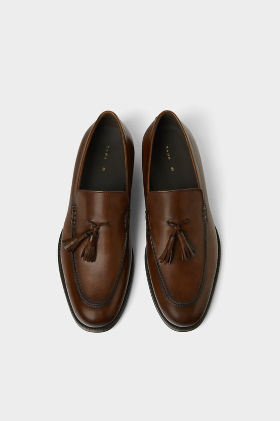 Classic Leather Loafers View All Shoes Man by Zara