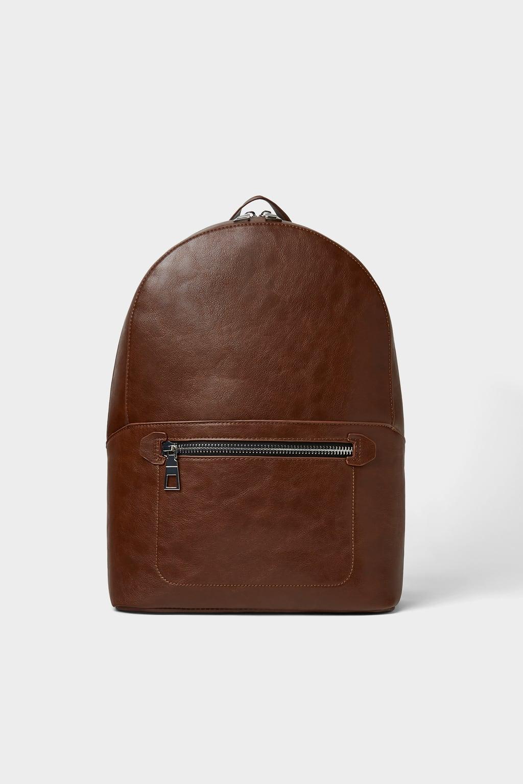 Zara Leather Backpack Man- Fenix Toulouse Handball 64288d5452