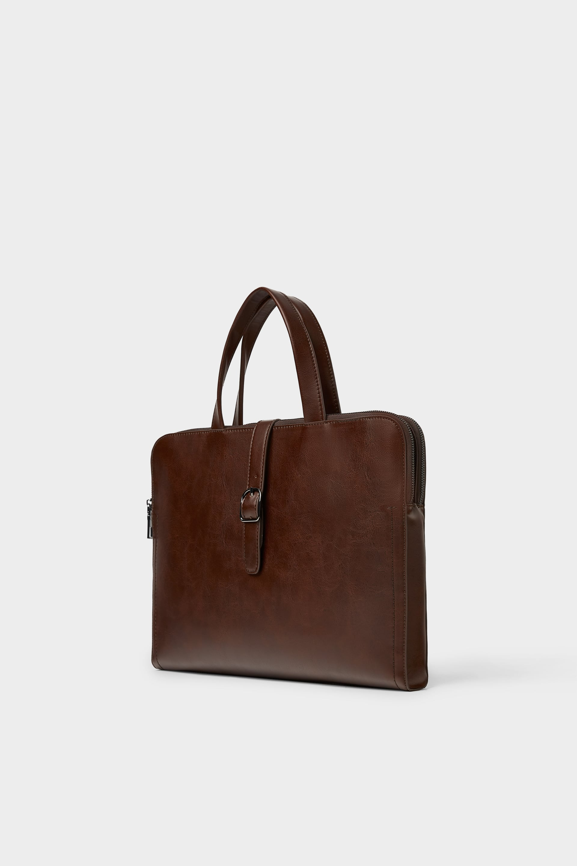 Brown Dress Briefcase Business Bags Man by Zara