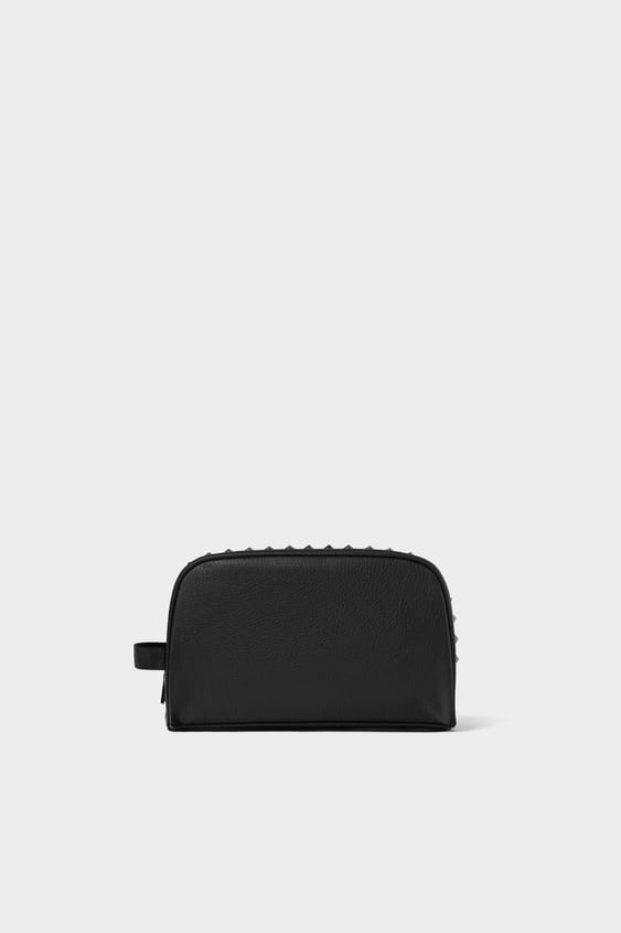 06837f56dd Image 1 of BLACK STUDDED TOILETRY BAG from Zara