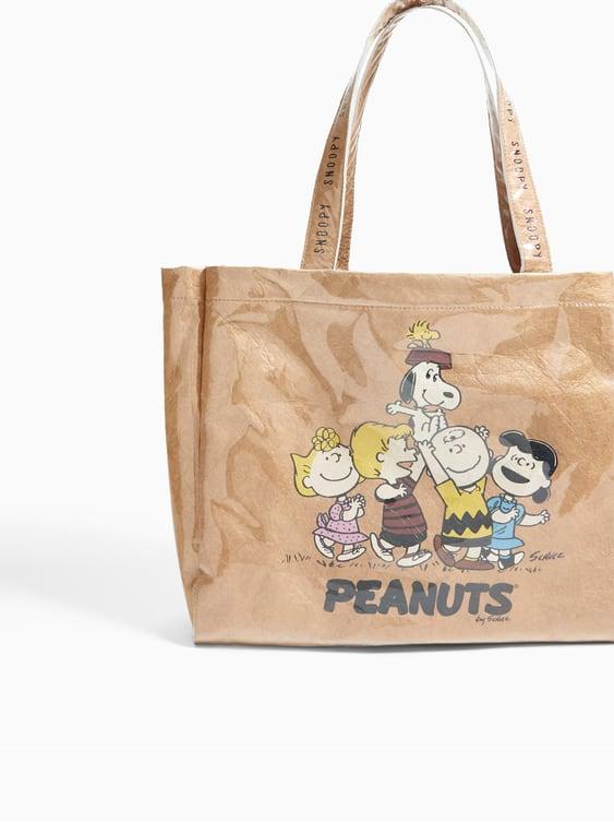 Image 6 Of Snoopy Peanuts Vinyl Tote From Zara