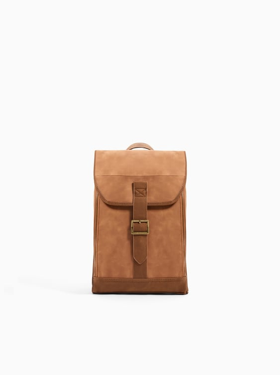 Brown Backpack With Buckle  View All Bags And Backpacks Girl by Zara
