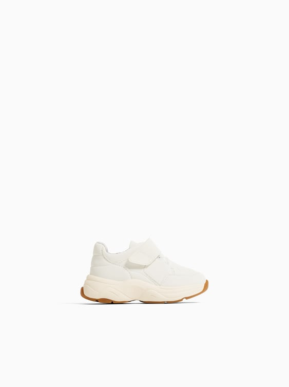 Contrasting Sole Sneakers  View All Shoes Baby Girl by Zara