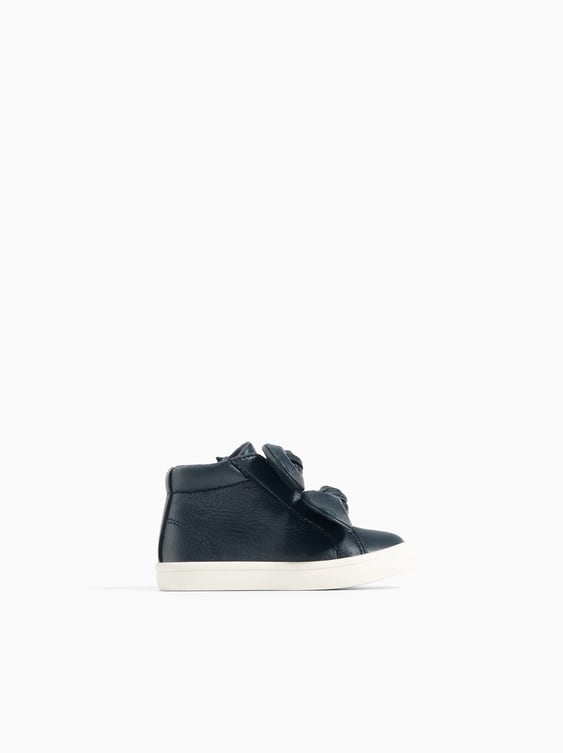 High  Top Sneakers With Bows View All Shoes Baby Girl by Zara