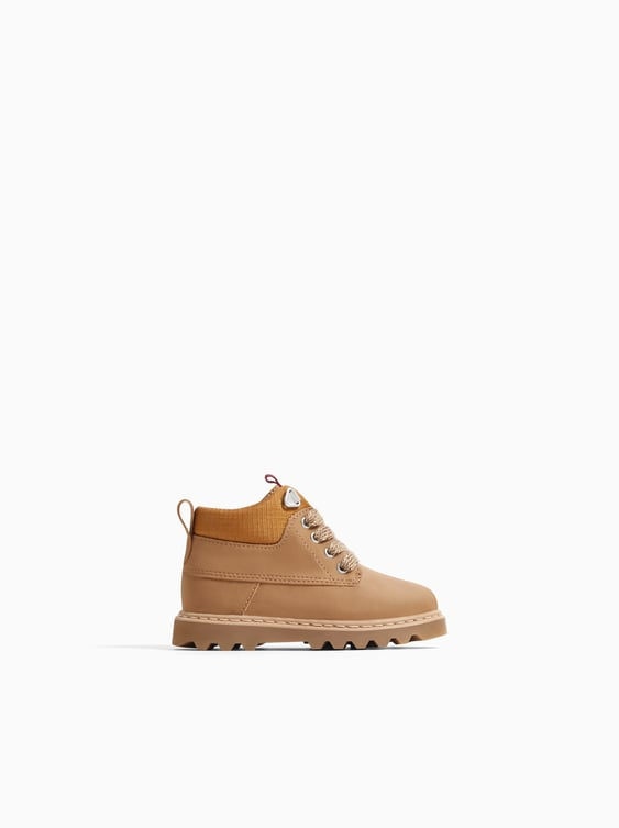 Lace Up Boots Boots Shoes Baby Boy by Zara