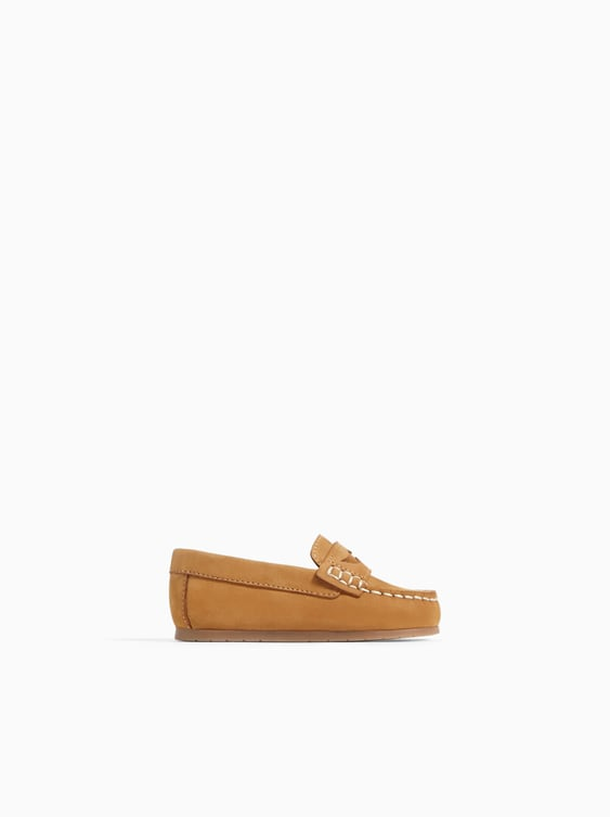 Detailed Leather Loafers  Shoes And Sandals Shoes Baby Boy by Zara