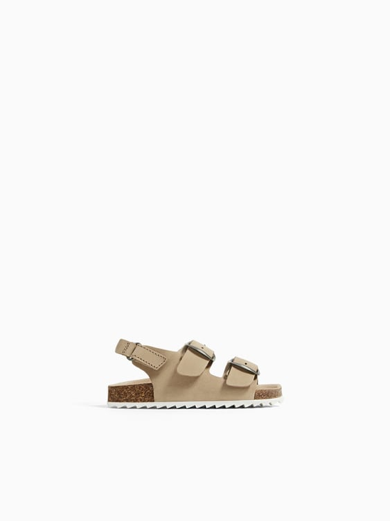 Leather Strappy Sandals  Shoes And Sandals Shoes Baby Boy by Zara