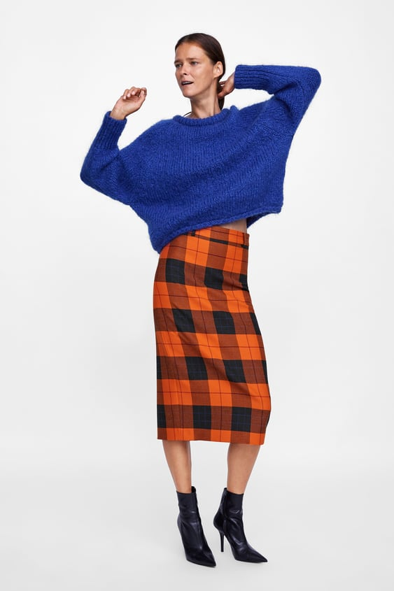 Image 1 of CHECK PENCIL SKIRT from Zara 54717fd75410