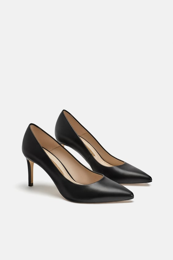 cb307150040 Image 1 of LEATHER HIGH-HEEL COURT SHOES from Zara