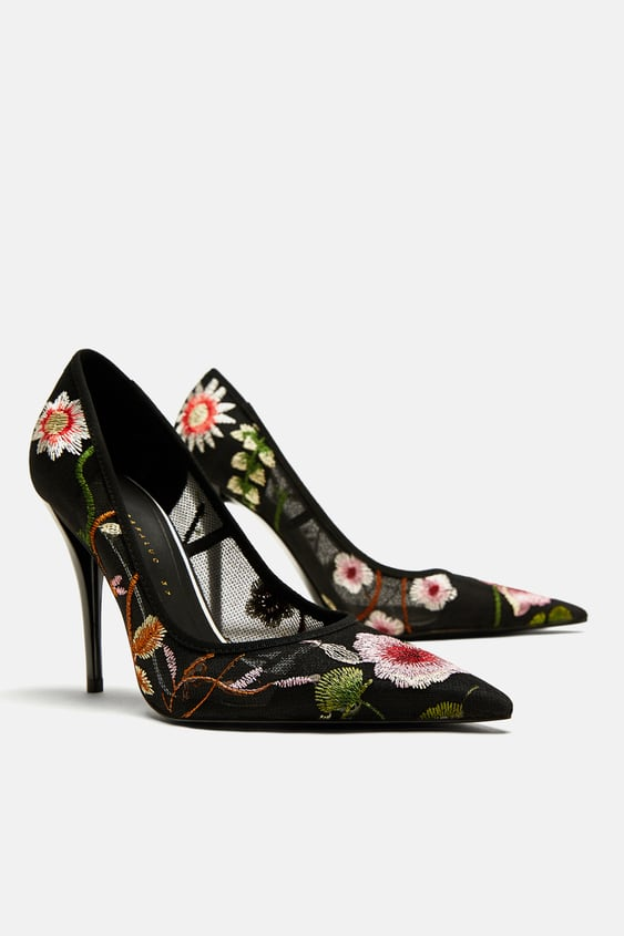 3ae05f1e227e floral-embroidered-high-heel-court-shoes by zara