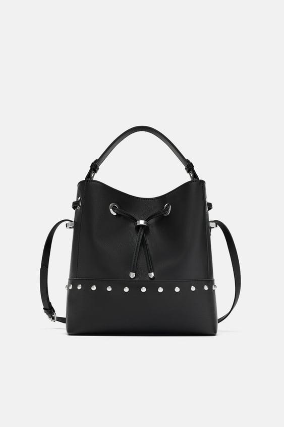 Image 1 Of Studded Bucket Bag From Zara