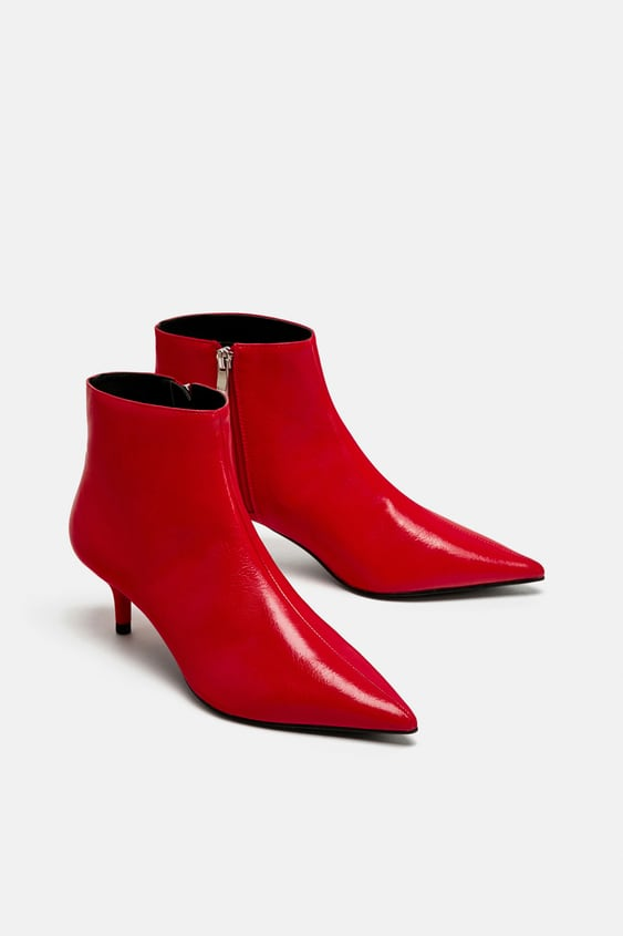 dcdbd799dcf RED MID - HEEL ANKLE BOOTS-View all-SHOES-TRF