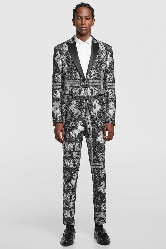 Jacquard Tuxedo Suit Zara Australia