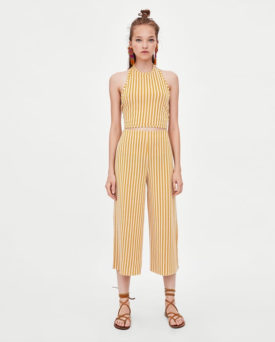 Image 1 of STRIPED CULOTTES from Zara