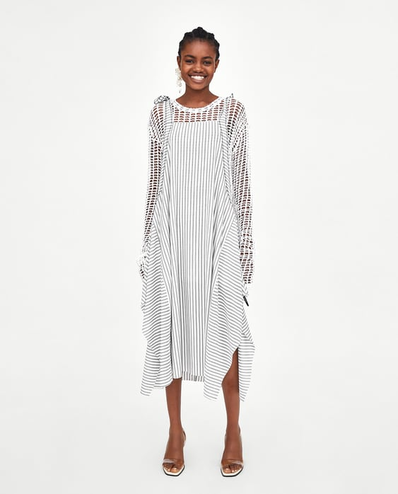f16be462 Shoptagr | Striped Pinafore Dress Topssale Woman by Zara