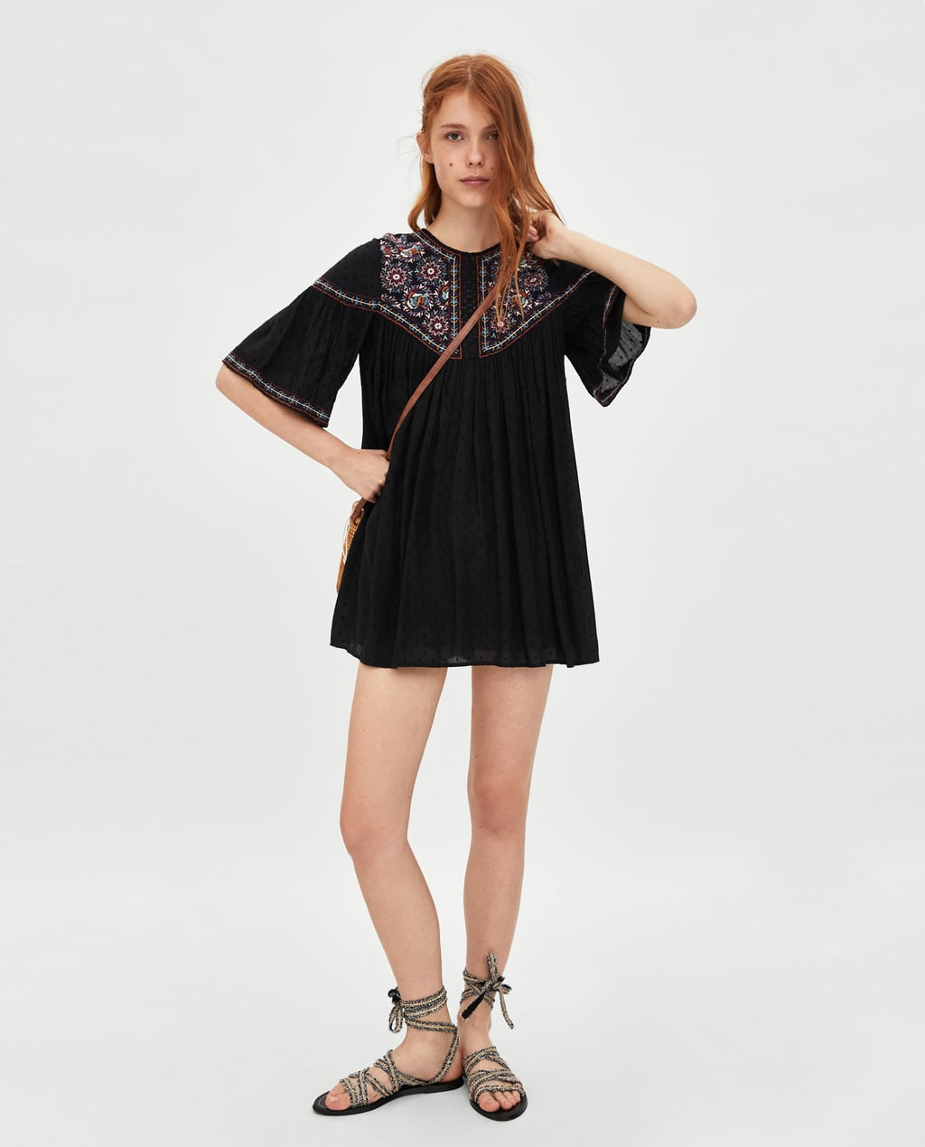Image 1 of PLUMETIS EMBROIDERED DRESS from Zara