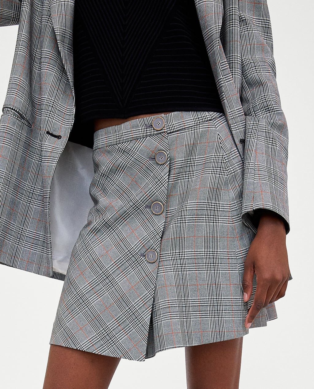 Image 4 of CHECK MINI SKIRT from Zara
