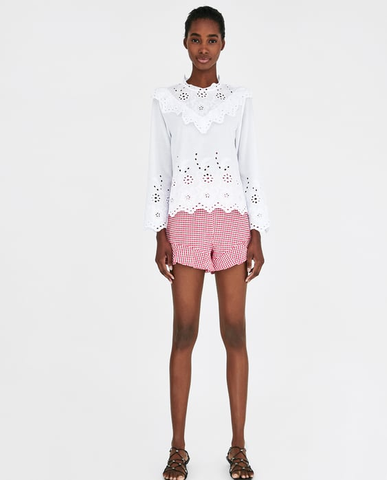 Image 1 of EMBROIDERED TOP from Zara