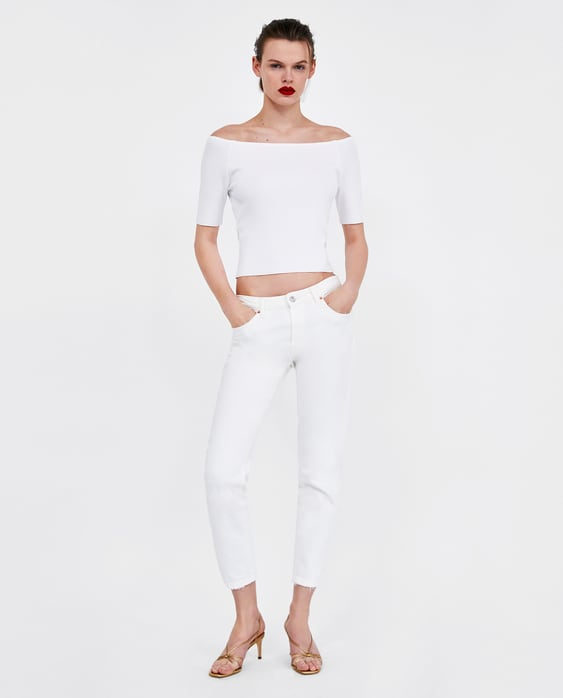 2065451d2ac Shoptagr | Off Theshoulder Crop Top Shirts I Tops Sale Woman by Zara