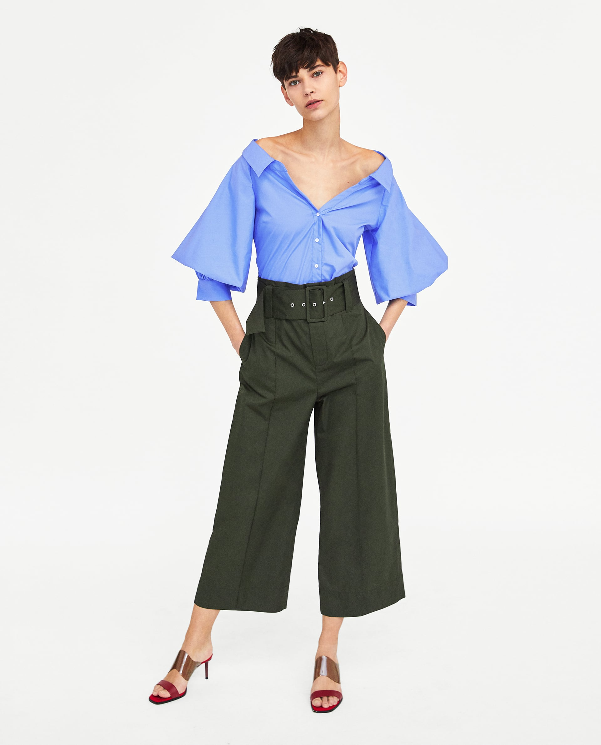 Image 1 of PUFF SLEEVE SHIRT from Zara