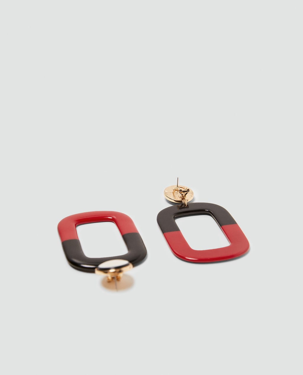 Image 2 Of Square Dangle Earrings From Zara