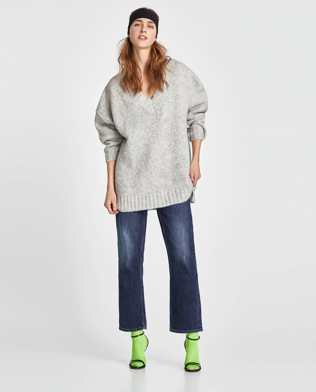 Image 1 of OVERSIZED SWEATER WITH SEAM DETAILS from Zara