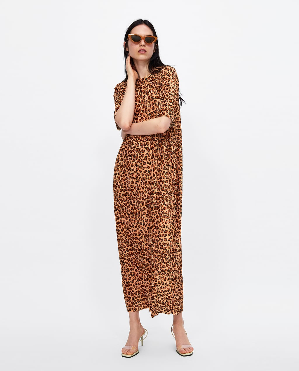 Couture Wear Leopard Print Dresses Women Fit And Flared Dressesmidi