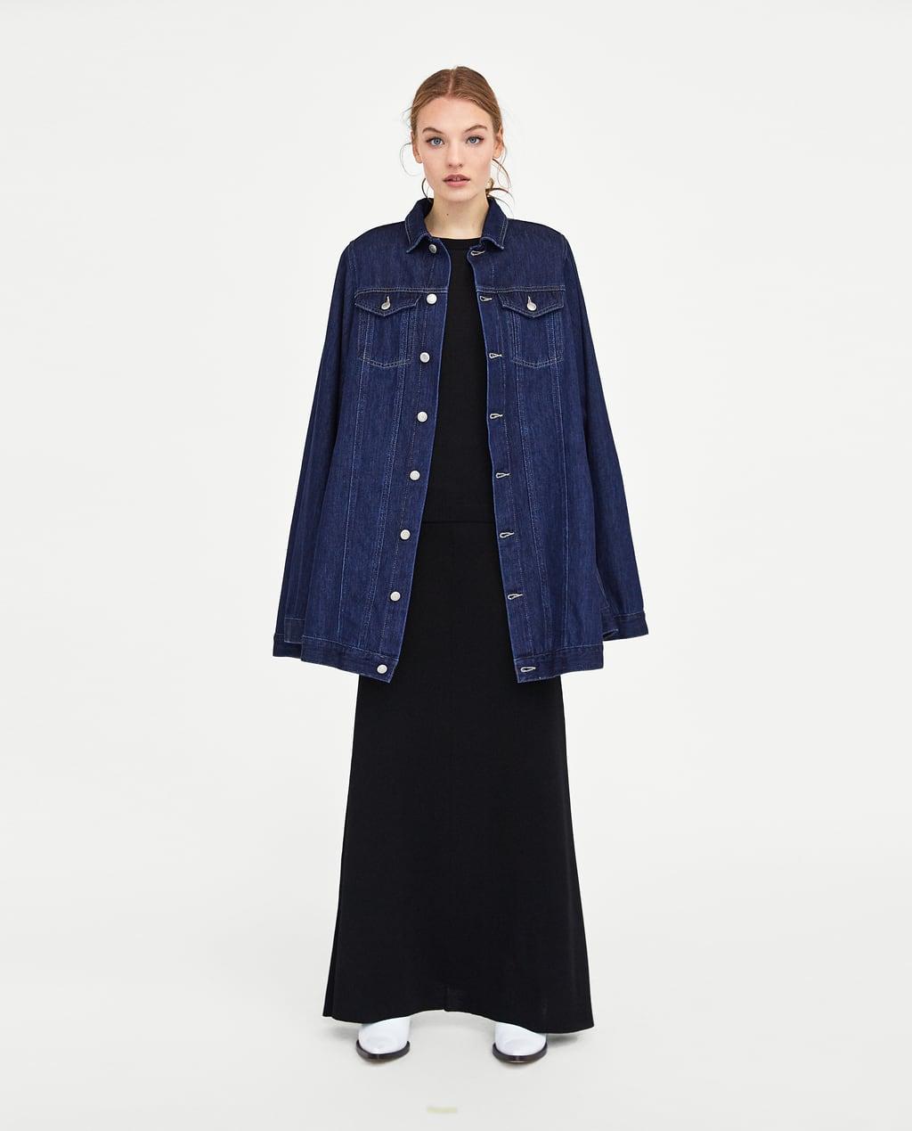 Image 1 of DENIM CAPE from Zara
