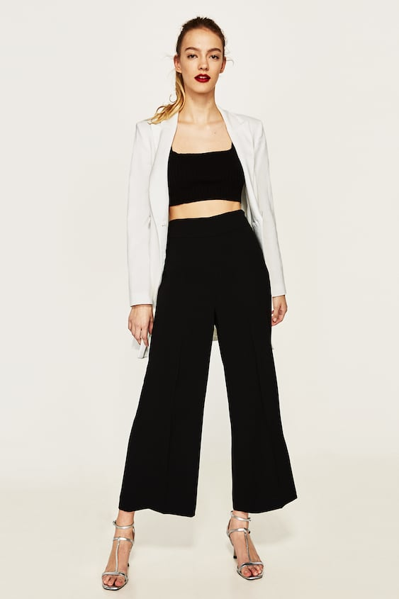 High Waist Trousers Culottes Trousers Woman by Zara