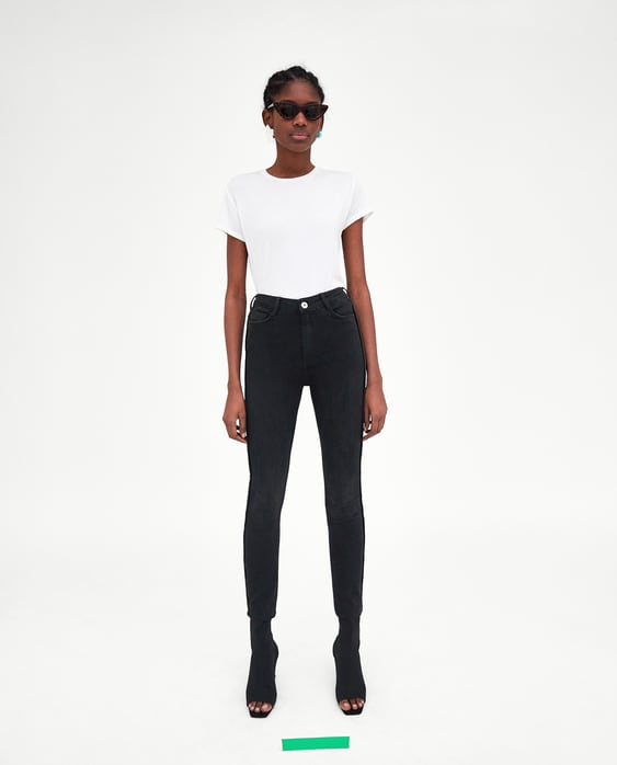 911989a5 Shoptagr | Skinny Jeans With Piping Pants I Jeanssale Woman by Zara