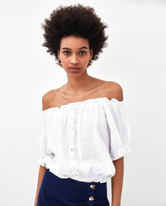 Image 2 of LINEN TOP from Zara