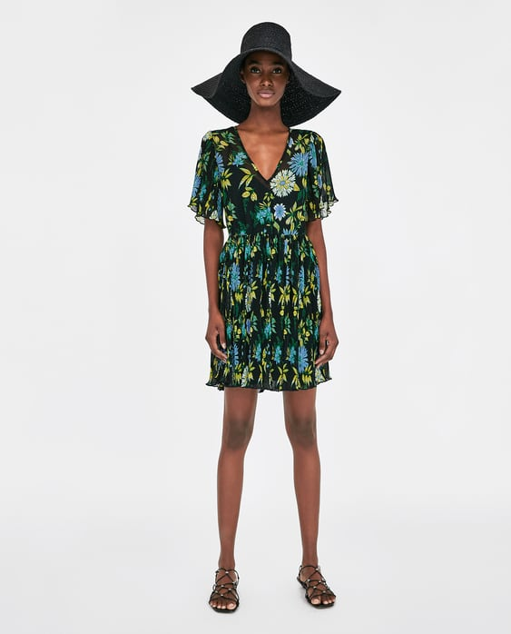 pleated-dress-with-contrasting-print--dressessale-woman by zara