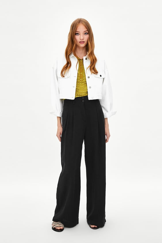 Image 1 of PALAZZO TROUSERS WITH DARTS from Zara 3e11cd180695