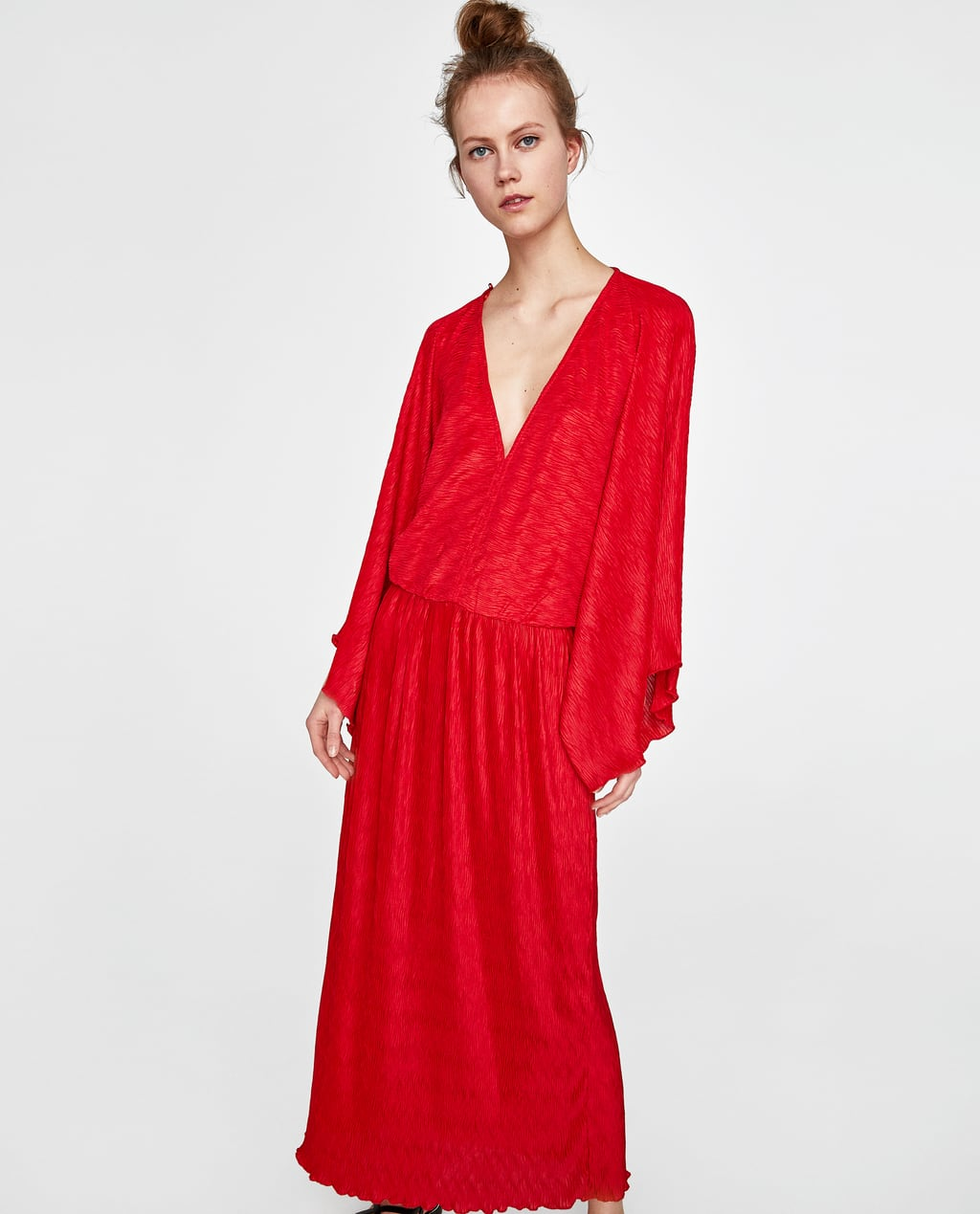 PLEATED KIMONO DRESS - DRESSES-WOMAN-SALE | ZARA United States