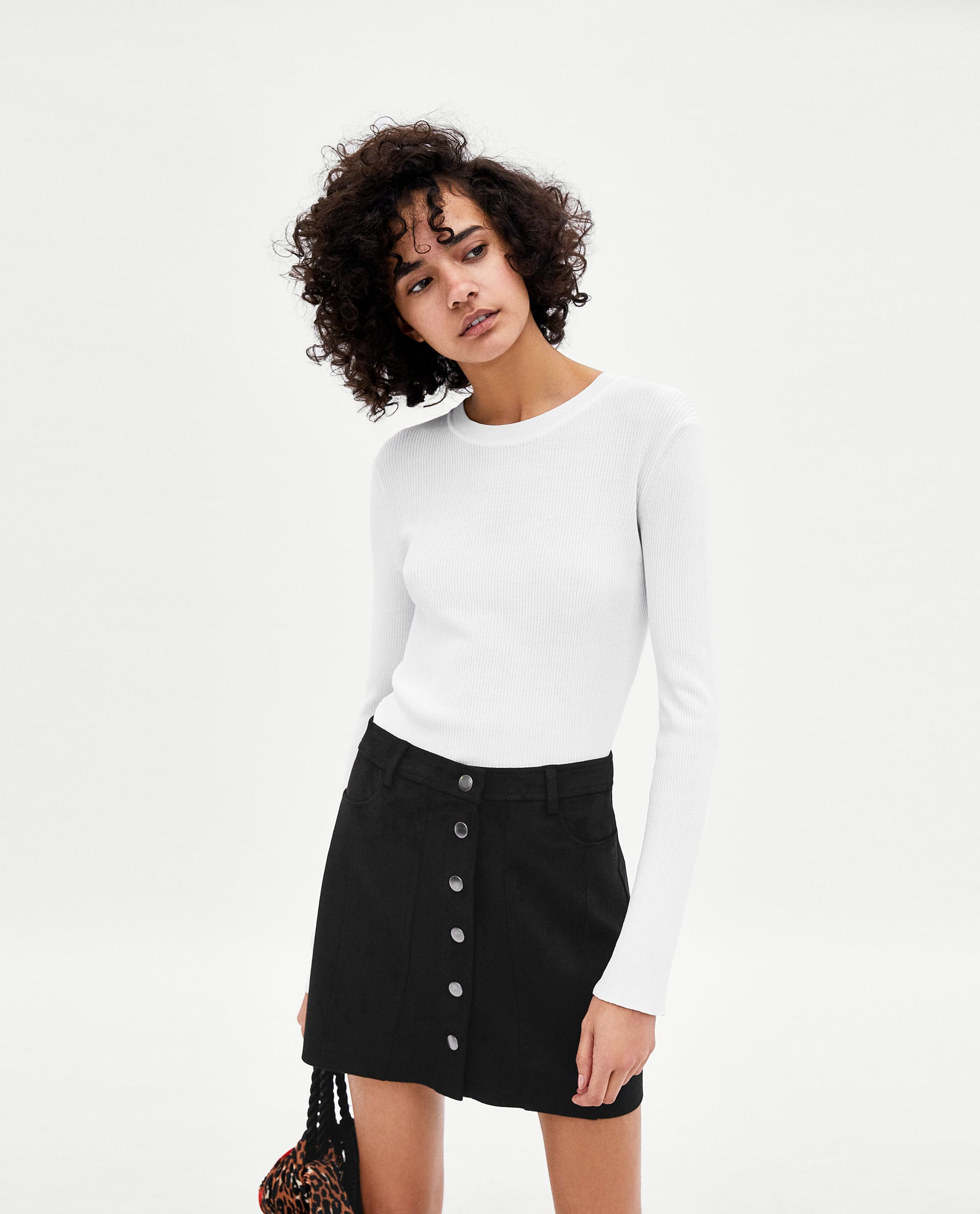 Image 2 of FAUX SUEDE MINI SKIRT from Zara