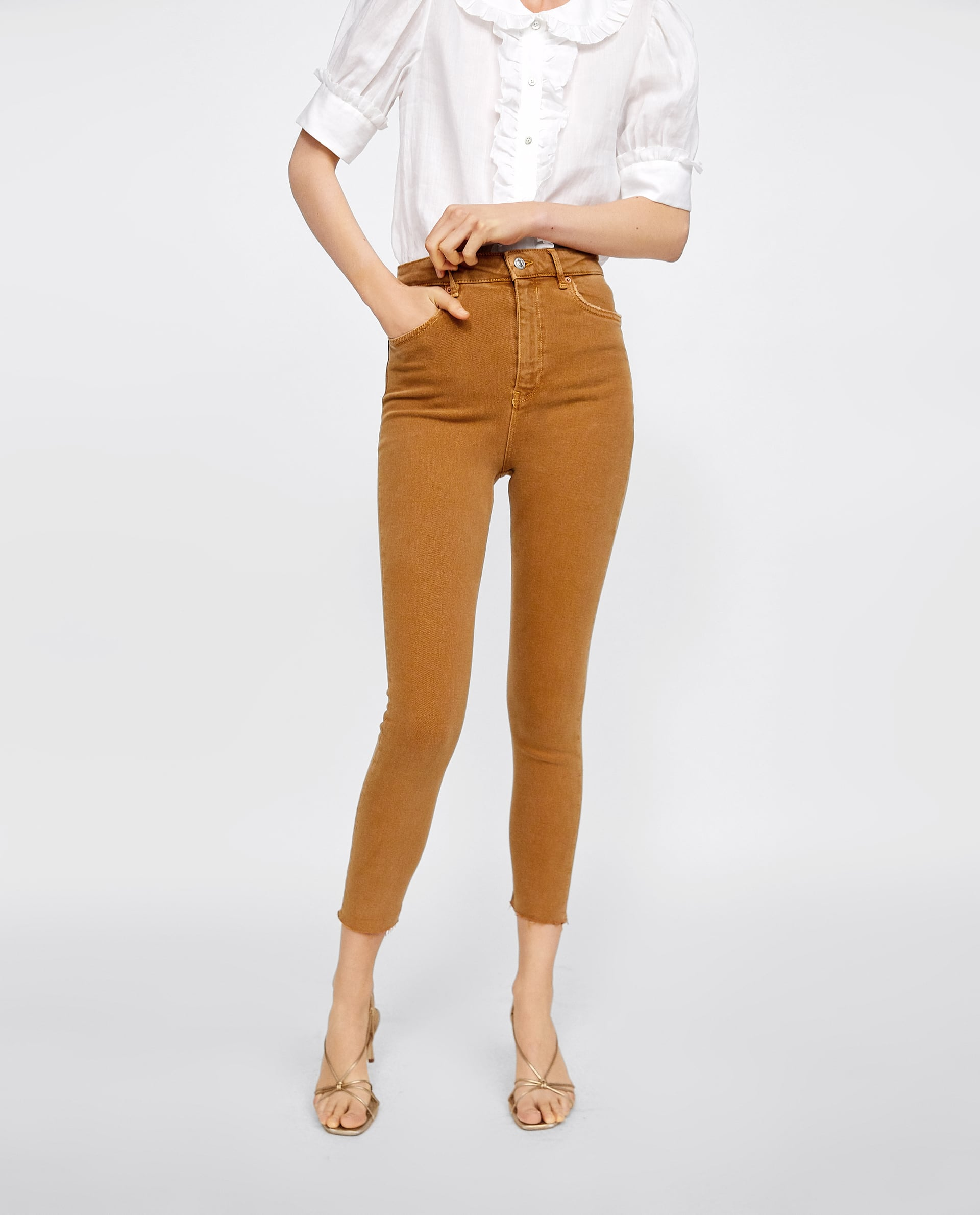 Image 2 of '80s HIGH WAIST COLORED JEANS from Zara