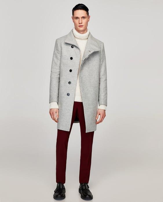 e9ee4d85 Shoptagr | Coat With Asymmetric Collar by Zara