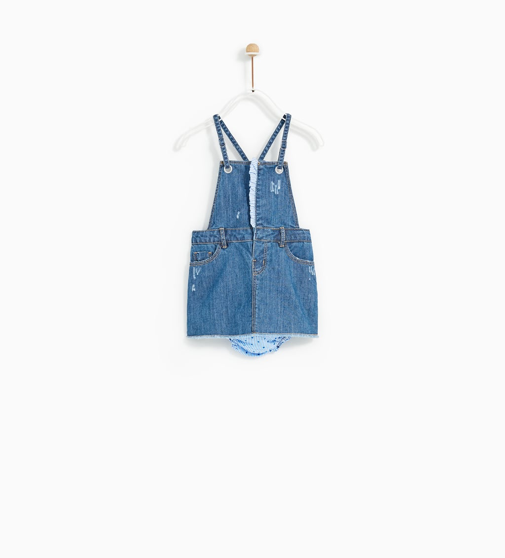 PINAFORE DRESS AND BRIEFS - DENIM-BABY GIRL | 3 months-4 years-KIDS ...