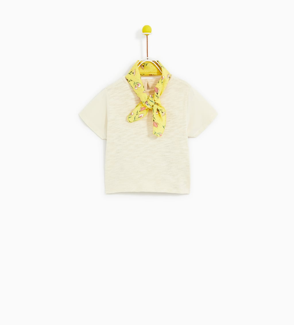 Image 1 of T-SHIRT WITH SCARF from Zara