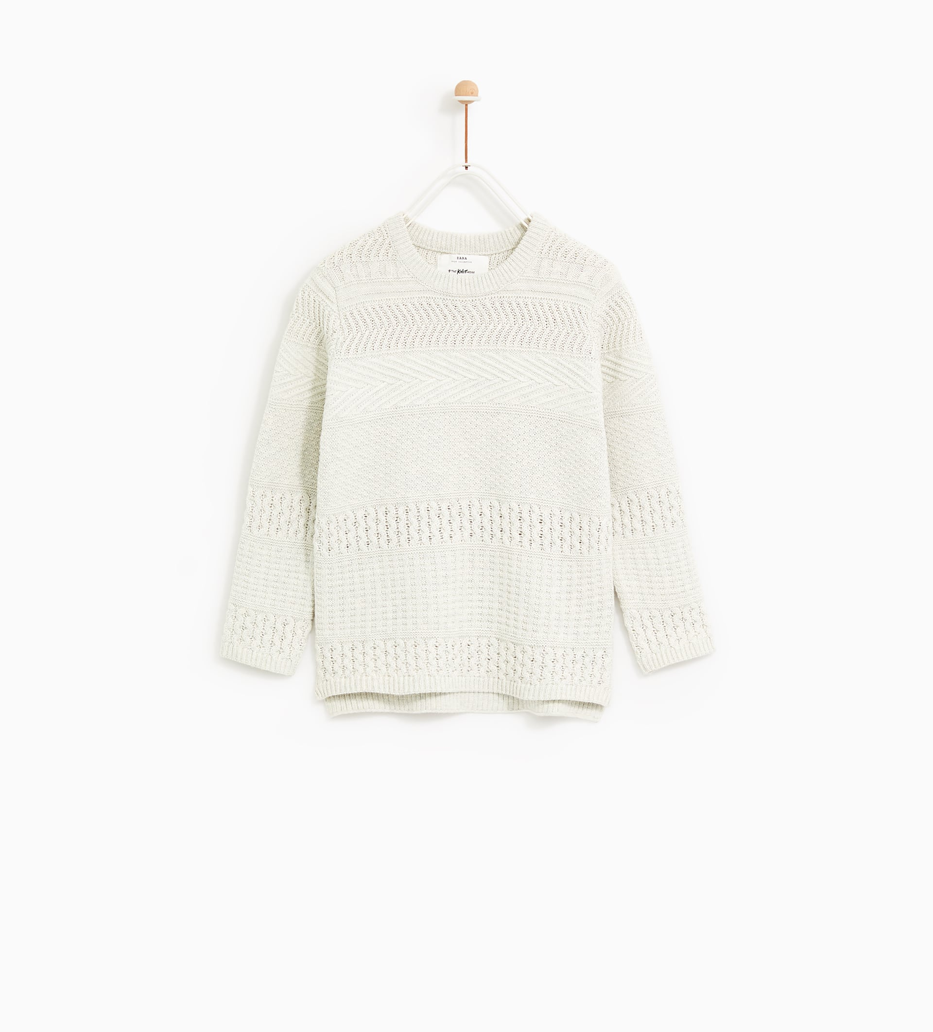 Image 1 of TEXTURED KNIT SWEATER from Zara