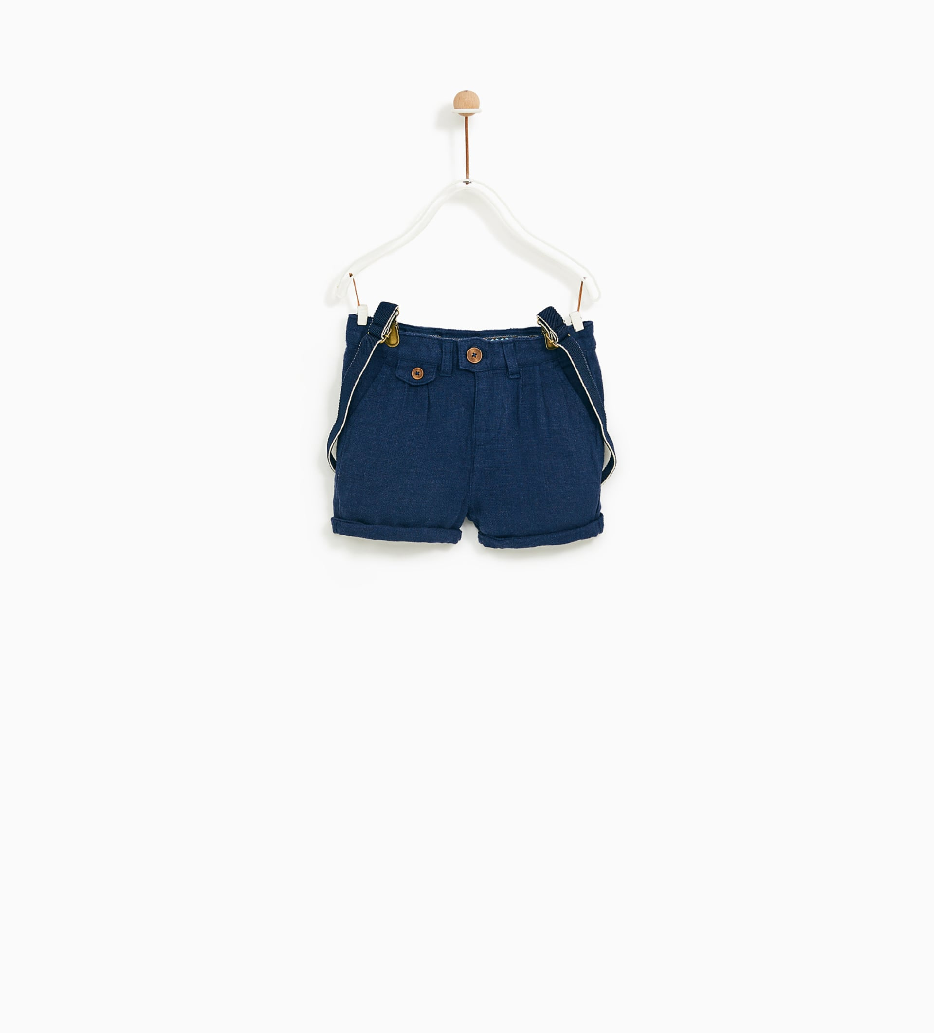 Image 1 of BERMUDA SHORTS WITH SUSPENDERS from Zara