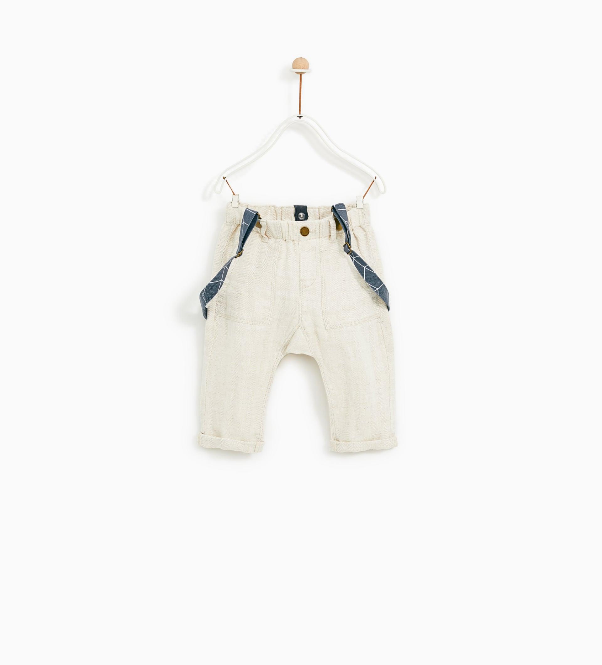 Image 1 of LINEN HERRINGBONE PANTS from Zara